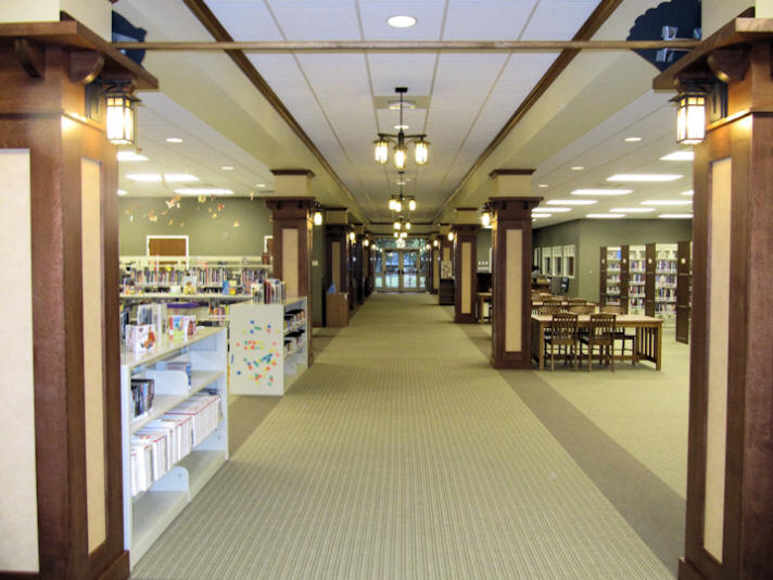 Interior of the Troutman Branch Library