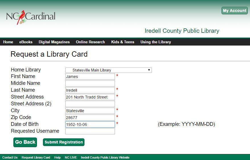 Apply For A Library Card | Iredell County Public Library, Nc