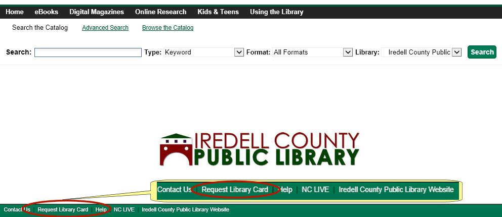 Apply For A Library Card  Iredell County Public Library Nc