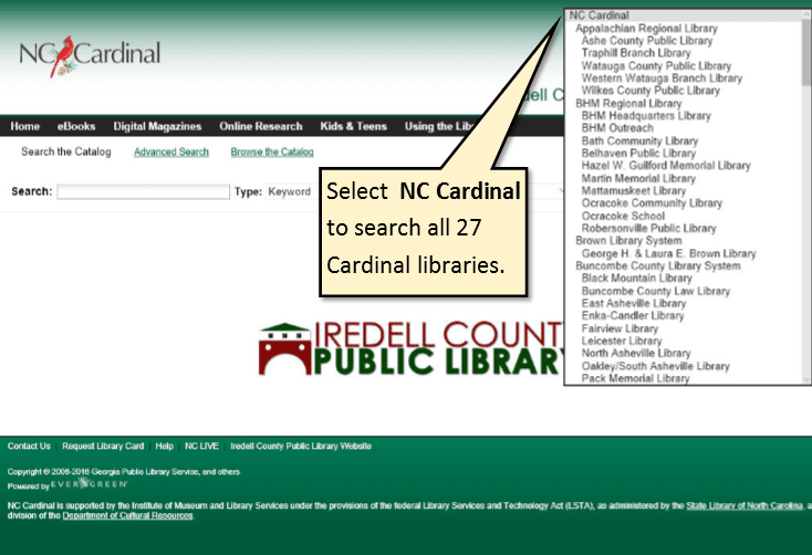 NC Cardinal Search-Step One