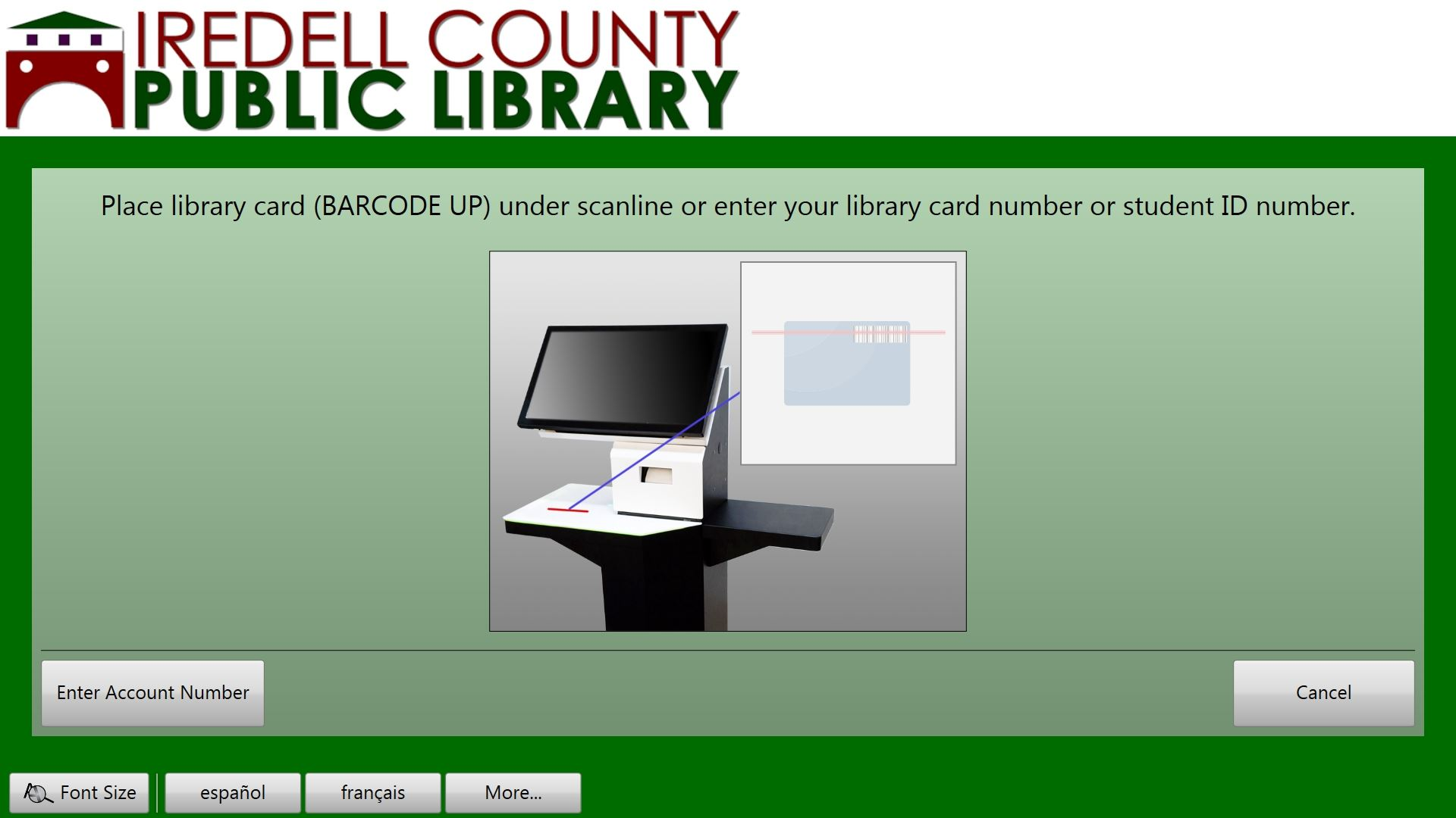 Place library card