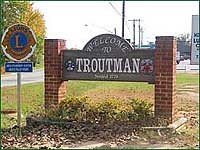 Town of Troutman sign